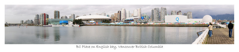 BC Place on English Bay, on the morning of the Winter 2010 Olympics Opening Ceremony's. Vancouver. B.C. Canada