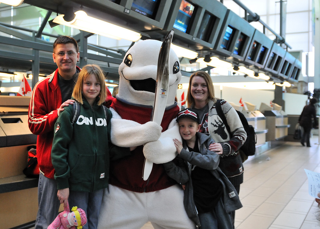 At the Vancouver airport, there were reps from the Vancouver Aquarium walking around.