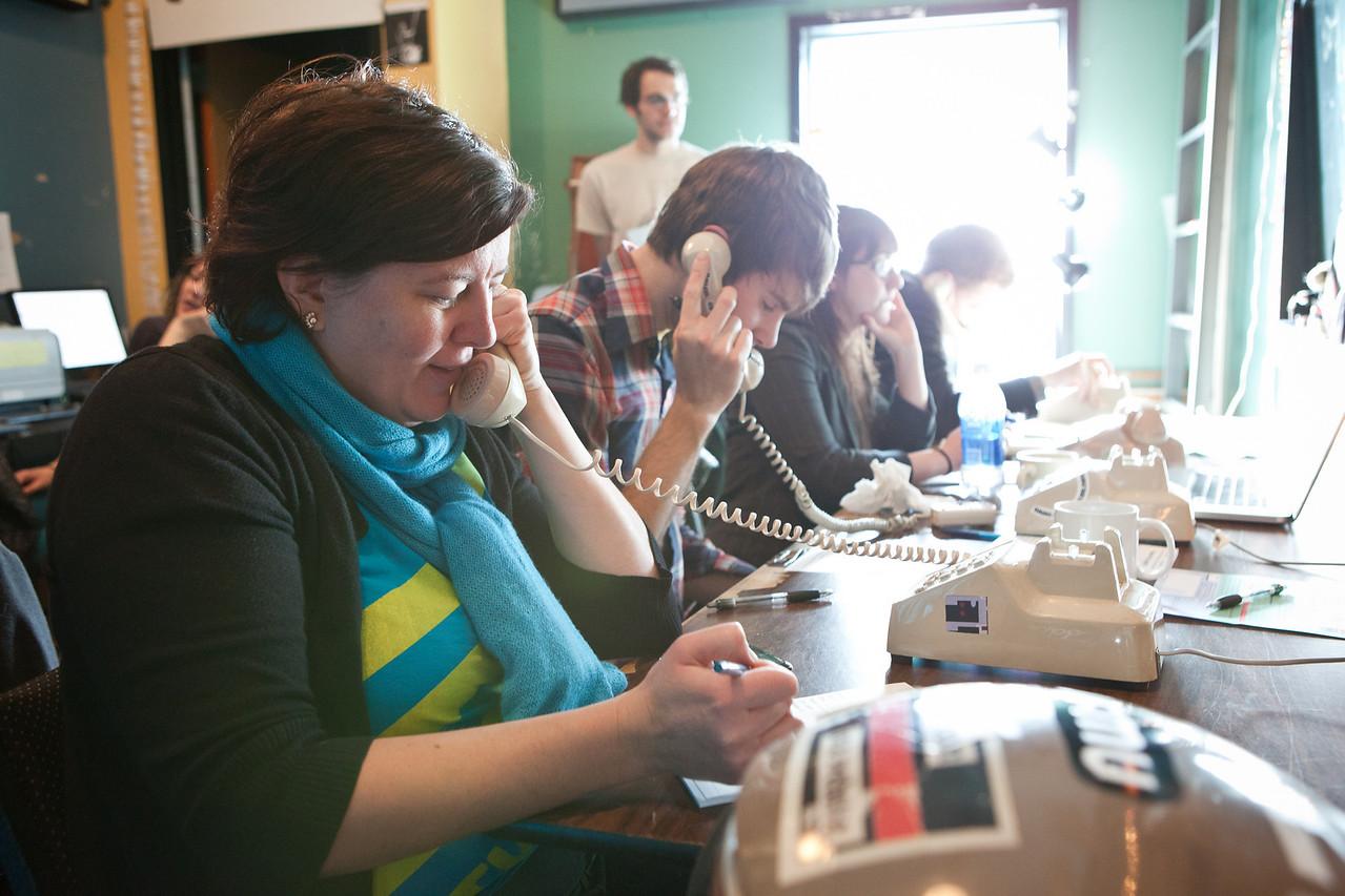 Volunteers in the Phone Room