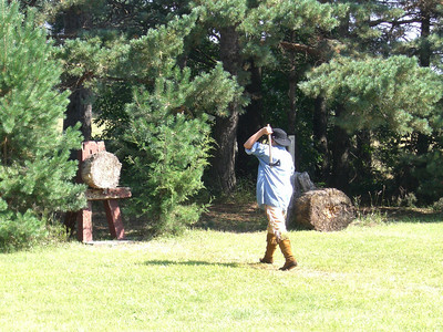 2010 Forest City Rendezvous: Axe-throwing