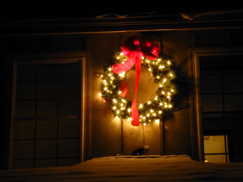 Our hula hoop wreath :)