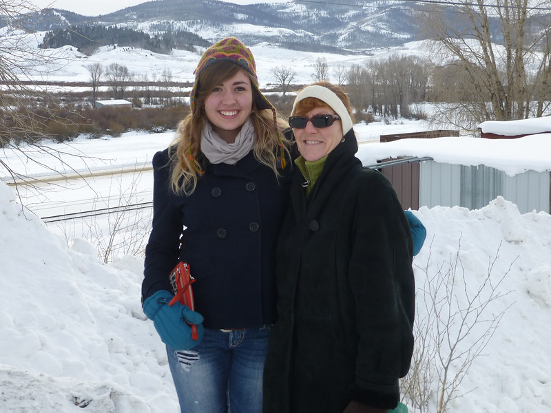 Sarah and Cynthia on a cold day in Granby, CO