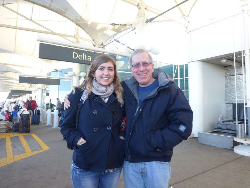 At DIA as Sarah heads back to CA