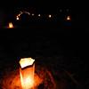 Luminarias light the night