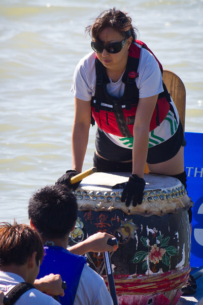 "Race 39 / 500m: Team ""Starbucks Waverunners Sumatra"" at the 2011 Steveston Dragon Boat Festival."