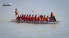"""Race 38 / 500m: Team """"Dragonboat Z"""" paddles to the start line for the Division B Championship race at the 2011 Steveston Dragon Boat Festival."""