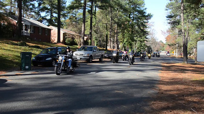 Video of Motorcycles Arriving at the Dominion School for Autism