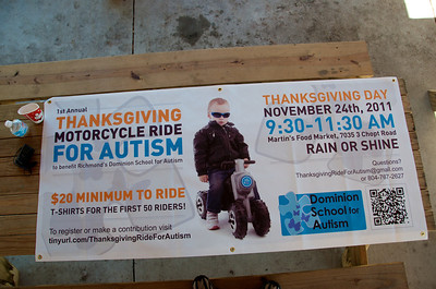 Thanksgiving Ride for Autism Sign