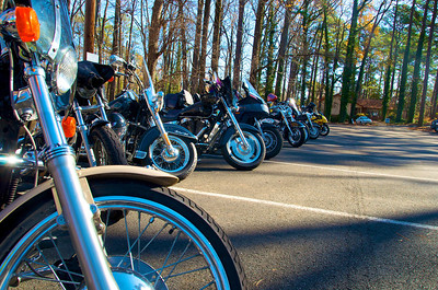 Bikes lined up at DSFA
