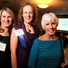 Kathy Pollicita, Director of Charitable Giving and Community Outreach for Frasier Meadows Retirement Community, left, Susan Connelly, Executive Director of the Colorado Chautauqua Association, middle, and Marny Harris, of Ehrhardt Keefe Steiner & Hottman PC (EKS&H), pose for a photograph during the Boulder Chamber of Commerce Annual Dinner on Thursday, April 21, at the Millennium Harvest House in Boulder. Connelly was being honored as the Key Contributor of the Year. <br /> Jeremy Papasso/ Camera