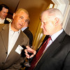 Rodney Foster of Dean Callan & Company Inc., left, chats with Rick Nelson, of Wells Fargo, during the Boulder Chamber of Commerce Annual Dinner on Thursday, April 21, at the Millennium Harvest House in Boulder. Foster is the Director of Tenant Representation Services for Dean Callan & Company Inc. and Nelson is the Northern Colorado Regional Banking Manager for the wealth management group for Wells Fargo.<br /> Jeremy Papasso/ Camera