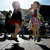 "Twins, Molly, left, and Emma Weber, 4, dance to the music during the festival on Saturday.<br /> The Downtown Boulder Fall Festival continues on Sunday on the Pearl Street Mall.<br /> For a video and more photos of the festival, go to  <a href=""http://www.dailycamera.com"">http://www.dailycamera.com</a>.<br /> Cliff Grassmick / September 24, 2011"