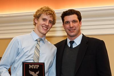 Water Polo, Coach Zoltan Csepregi and MVP Logan Seaman