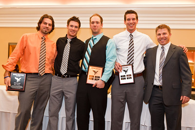Brett Halstead, Brandon MacLean, Justin Caruana, Andrew Self (for Brad Good) and Coach Johnston