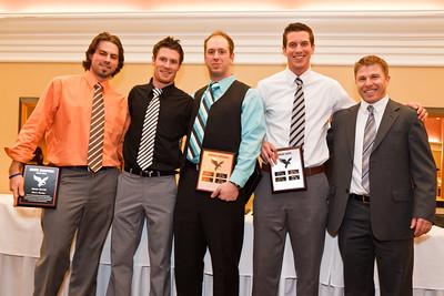 Brett Halstead, Brandon MacLean, Justin Caruana, Andrew Self (for Brad Good) and Coach Johnston
