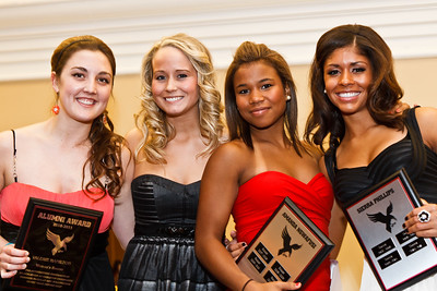 Graduates Valerie Hamilton, Kayla Wood, Amanda Ngwafusi and Sierra Phillips