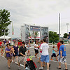 Record-Eagle/Keith King<br /> Pedestrians cross Grandview Parkway to and from the Open Space area Saturday, July 2, 2011 during the opening day of the National Cherry Festival.