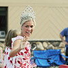 Record-Eagle/Keith King<br /> Maria LaCross, the 2010-2011 National Cherry Festival Queen, waves to spectators along Front Street Thursday, July 7, 2011 during the Touchstone Energy Junior Royale Parade.