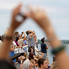 Record-Eagle/Keith King<br /> Spectators watch the National Cherry Festival Air Show Saturday, July 2, 2011 near the Duncan L. Clinch Marina during the opening day of the festival.