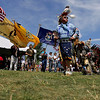 Record-Eagle/Keith King<br /> Tom Peters, of Traverse City, dances during a Native American powwow Tuesday, July 5, 2011 at the Open Space during the National Cherry Festival.