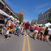 Record-Eagle/Dan Nielsen<br /> <br /> Union Street fills with shoppers during Sunday's Arts & Crafts Fair.