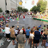 Record-Eagle/Keith King<br /> Spectators watch the Touchstone Energy Junior Royale Parade Thursday, July 7, 2011 at the intersection of West Front Street and Union Street.