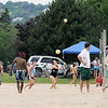 Record-Eagle/Keith King<br /> The National Cherry Festival Two-Person Beach Volleyball Tournament takes place Saturday, July 2, 2011 near West End Beach during the opening day of the National Cherry Festival.