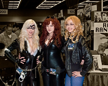 Black Cat, Black Widow and Black Canary