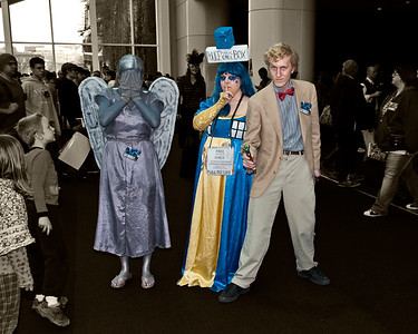 Weeping Angel, Tardis and Doctor Who