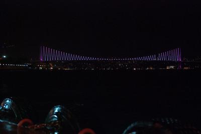 Bosphorus Bridge illuminated