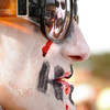 """The reflection of Adam Golden, of Sante Fe, N.M., is seen in the sunglasses of Tesa Sinanaj, also of Sante Fe, during the start of the coffin parade on Saturday, March 5, during """"Frozen Dead Guy Days"""" in Nederland. For more photos and video go to  <a href=""""http://www.dailycamera.com"""">http://www.dailycamera.com</a><br /> Jeremy Papasso/ Camera"""