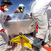 "Team ""Nederterrestrial Area 51"" hustles over an obstacle while competing in the coffin races on Saturday, March 5, during ""Frozen Dead Guy Days"" in Nederland. For more photos and video go to  <a href=""http://www.dailycamera.com"">http://www.dailycamera.com</a><br /> Jeremy Papasso/ Camera"