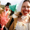 """Stephanie Latimer, of Denver, marches with her team """"Donner Party"""" during the parade on Saturday, March 5, during """"Frozen Dead Guy Days"""" in Nederland. For more photos and video go to  <a href=""""http://www.dailycamera.com"""">http://www.dailycamera.com</a><br /> Jeremy Papasso/ Camera"""