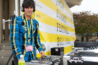 DJ Vex Mode performs at the 2011 J-POP Summit Festival on the Pagoda Stage