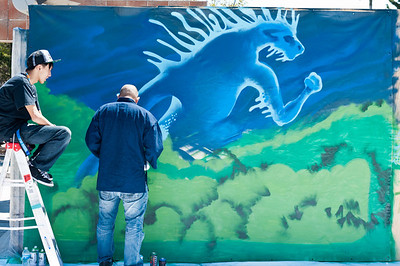 """Mike """"BAM!"""" Tyau Charity Live Painting at the 2011 J-POP Summit Festival"""