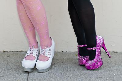 Shoe fashion at the 2011 J-POP Summit Festival