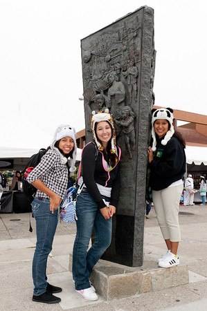 Young ladies wearing their hats at the 2011 J-POP Summit Festival