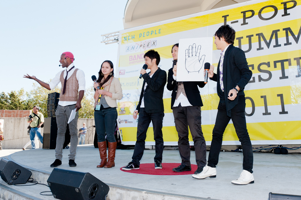 not for sale:  Fortune-telling demo on the Pagoda Stage at the 2011 J-POP Summit Festival