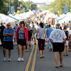 "Hundreds walk down S. Public Road in Lafayette checking out the 12th Annual Lafayette Peach Festival.<br /> For more photos and a  video from the festival, go to  <a href=""http://www.dailycamera.com"">http://www.dailycamera.com</a><br /> Cliff Grassmick / August 20, 2011"