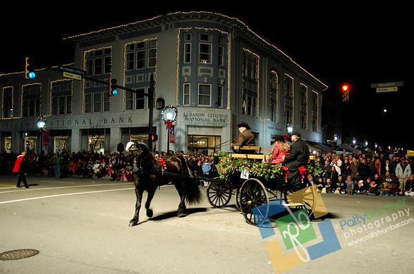 2011 Lebanon Ohio Evening Horse Drawn Carriage Christmas Parade