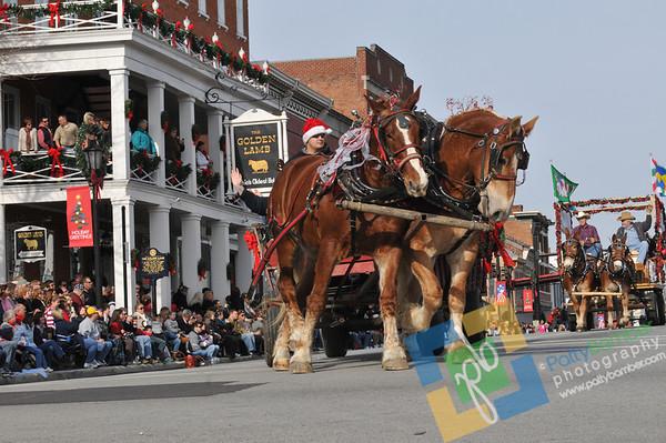 2011 Lebanon Ohio Afternoon Horse Drawn Carriage Christmas Parade