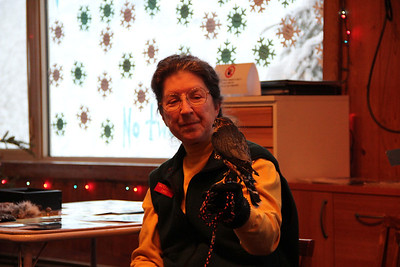 Chris with Taz the Merlin.