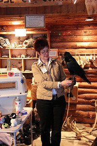 DeAnne and Crawford the Raven.