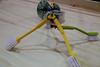 Walking robot with brush legs.