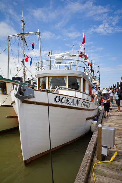 """The """"Ocean Guile"""" retired troller at the 2011 Richmond Maritime Festival."""