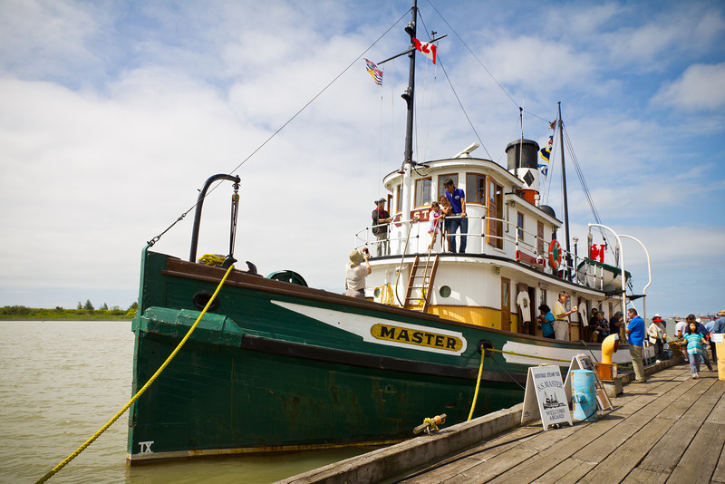 S.S. Master - the last locally built, wooden steam tugboat in B.C.