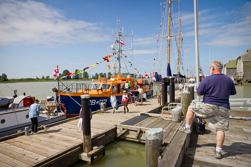 """The """"Steveston Lifeboat"""" at the 2011 Richmond Maritime Festival."""