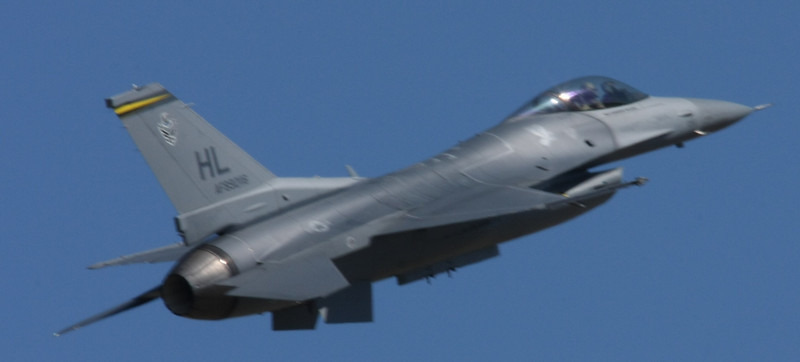 Another shot of the F-16 doing a low-speed pass.