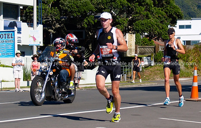 Port of Tauranga Half Ironman, 2011, New Zealand. Jeremy Boyd on Marine Parade. Tauranga is New Zealands 5th largest city and offers a wonderfull variety of scenic and cultural experiences. ALSO SEE; http://www.blurb.com/b/3811392-tauranga