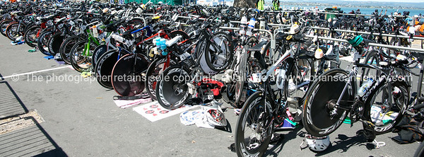 "Bike racks, accessories POT Half Ironman, 2010, Tauranga, New Zealand. Tauranga is New Zealands 5th largest city and offers a wonderfull variety of scenic and cultural experiences. ALSO SEE; <a href=""http://www.blurb.com/b/3811392-tauranga"">http://www.blurb.com/b/3811392-tauranga</a>"